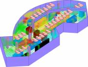 Temperature distribution in an irregular-shaped, non-raised-floor data center  » Click to zoom ->