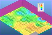 Pressure distribution and airflow pattern under the raised floor  » Click to zoom ->